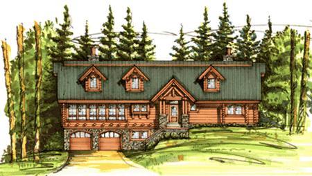 Dream log home log cabin homes for sale and log cabin models for Cottonwood house